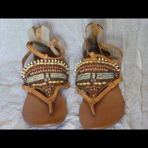 Boho Beaded Sandals